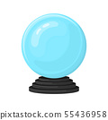 Magic fortune telling crystal ball on white 55436958
