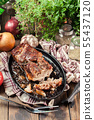 Still hot baked pork belly or bacon 55437120