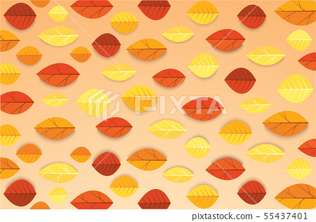 Autumn leaves and space for write background 55437401