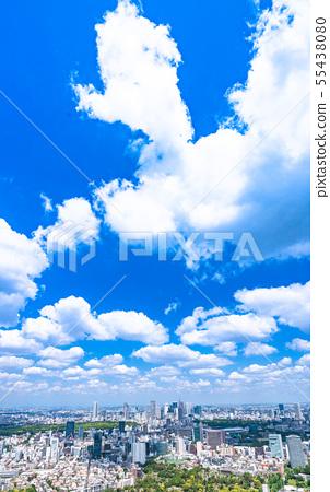 """東京""""藍天白雲·東京都市風景 55438080"""