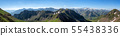 panorama of pyrenees mountains in France 55438336