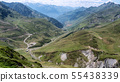 view of Col du Tourmalet in pyrenees mountains 55438339