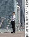 비즈니스맨,빌딩배경 55442200