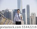 비즈니스맨,빌딩배경 55442216