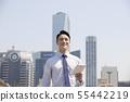 비즈니스맨,빌딩배경 55442219