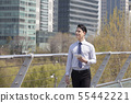 비즈니스맨,빌딩배경 55442221