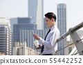 비즈니스맨,빌딩배경 55442252