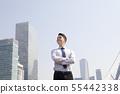 비즈니스맨,빌딩배경 55442338