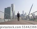 비즈니스맨,빌딩배경 55442366