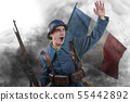 French soldier 1914 1918 attack, November 11th 55442892