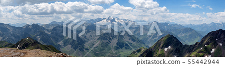 panorama of pyrenees mountains in France 55442944