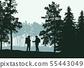 Realistic illustration of landscape with 55443049