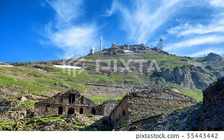 view of pic du midi de bigorre, french pyrenees 55443442