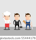 Cartoon Character Of Chef Businessman And 55444176