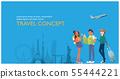 Traveler's illustrations for travel plans 55444221