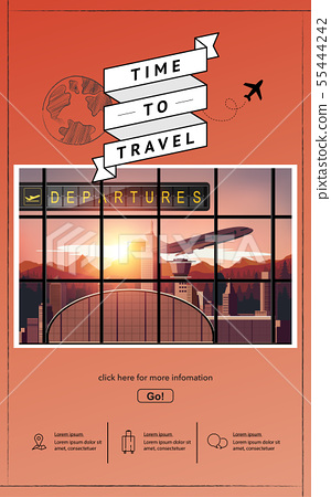 Airport infographic travel vector design 55444242