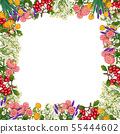 Hand drawn medicinal plant frame. Healing herbs border. isolated on white background 55444602