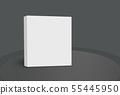 3D White Box on Ground Concept Series 55445950