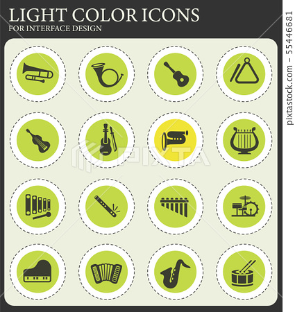 musical instruments icon set 55446681