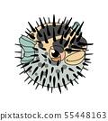vector scandi cartoon animal clip art 55448163