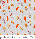 Autumn watercolor hand drawn seamless pattern with colorful leaves 55448253