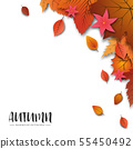 An abstract Autumn theme artistic bright yellow 55450492