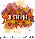 An abstract Autumn theme artistic bright yellow 55450494