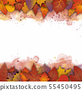 An abstract Autumn theme artistic bright yellow 55450495
