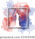 Silhouette Paper of United states of america on 55450498