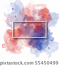 splash watercolor banner, used for banner, 55450499