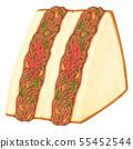 Sandwich Yakisoba sandwich with ears 55452544