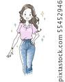 苗条的女人插图 55452946