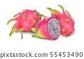 dragon fruit isolated on white background 55453490