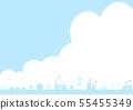 공장 푸른 하늘 뭉게 구름 55455349