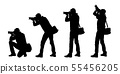 Set realistic silhouettes of male photographer 55456205
