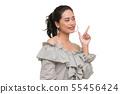 Beautiful Asian woman standing alone.. 55456424