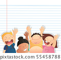 kids vector and space background  55458788