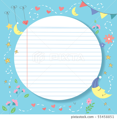 cute and lovly paper line vector background 55458851