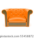 Orange leather sofa 55458872