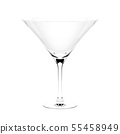 Martini cocktail glass. 3d rendering illustration isolated 55458949