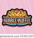 Vector logo for Bubble Waffle 55461367