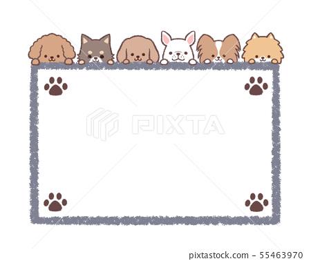 개들의 프레임 소형견 사각 - 발자취 55463970