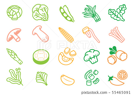 Basic ingredients vegetable of Thai BBQ. 55465091