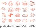 Basic Seafood ingredients of  other menu. 55465092