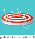 arrow icon on target archery vector  55466818