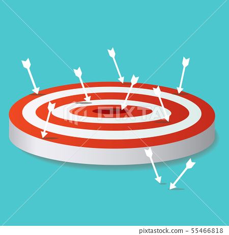arrow icon on target archery vector  55466818
