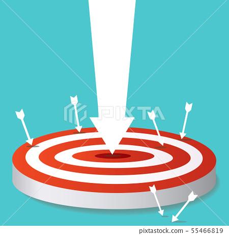 arrow icon on target archery vector  55466819