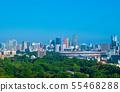 日本的東京都市風景我們看新國家體育場,東京鐵塔,六本木新城等。 55468288