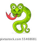 Snake Cute Reptile Vector Illustration On White 55468681