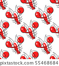 Seamless Pattern Of Lobsters. Red Crayfish. 55468684